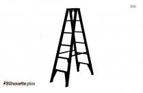 Transparent Ladder Silhouette