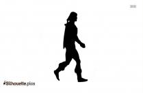 Animation Man Walking Silhouette