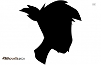 Anime Character Face Silhouette