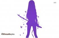 Anime Girl Warrior Silhouette