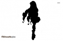 Moon Fairy Silhouette Background