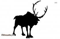 Free Reindeer Antler Silhouette