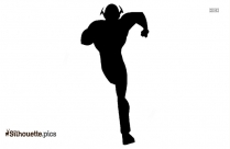 Running Poses Cartoon Silhouette Icon
