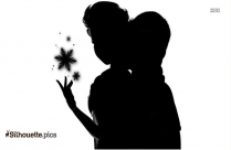 Black And White Princess Tiana Silhouette Vector