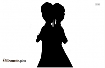 Anna And Elsa Silhouette Image And Vector