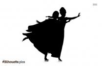 Anna And Elsa Skating Silhouette Picture