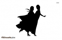 Anna And Elsa Skating Silhouette Drawing