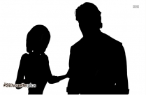 Cute Cartoon Anime Girl Silhouette