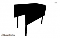 Table Furniture Silhouette Vector
