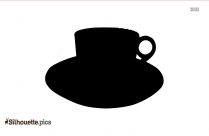 Antique Pottery Cup And Saucer Silhouette Image