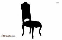 Wooden Chair Silhouette Clipart