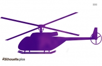 Apache Helicopter Silhouette Vector