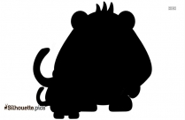 Baby Spider Monkey Silhouette Art