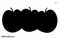 Black And White Pineapple Vector Silhouette