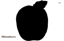 Apple Clip Art Vector Silhouette