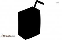 Apple Juice Box Silhouette