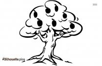 Black And White Plum Tree Silhouette