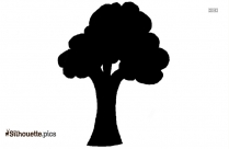 Free Tree With Leaves Silhouette