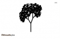 Pear Tree Silhouette Illustration