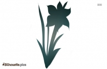 April Flower Silhouette