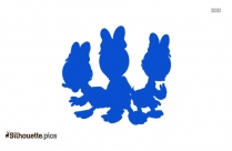 April May June Duck Silhouette Drawing, Three Ducklings Clipart