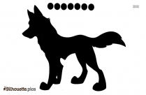Cartoon Wolf Silhouette Picture