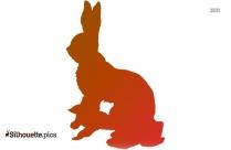 Rabbit Silhouette Clipart