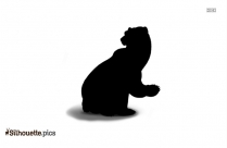 Cartoon Bear Drawing Silhouette Image And Vector