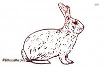 Cartoon Bunny Silhouette Art
