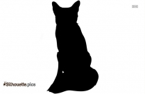 Black Fox Silhouette Image