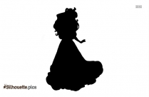 Toddler Moana ClipArt Silhouette