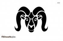 Aries Symbol Silhouette Vector And Graphics