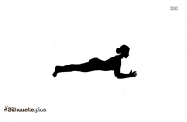 Crane Pose Yoga Silhouette Drawing
