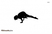 Extended Triangle Pose Silhouette Art