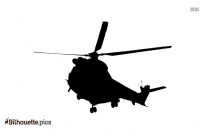 Army Chopper Silhouette Vector And Graphics