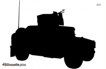 Army Military Car Silhouette Image