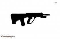 Cartoon Revolver Drawing Silhouette
