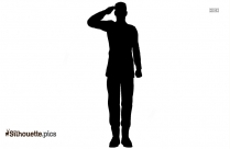 Black Cartoon Soldier Silhouette Image