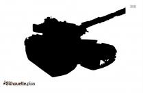 Military Tank Symbol Silhouette