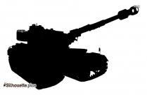 Military Tank Silhouette Icon
