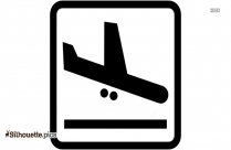 Arrivals Airport Sign Silhouette
