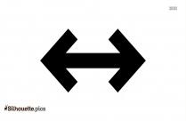 Black Double Arrow Silhouette Image