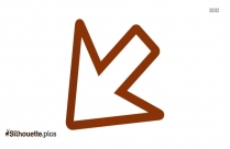 Arrow Pointing Down Left Symbol Silhouette