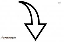 Drop Down Arrow Silhouette Clipart Image