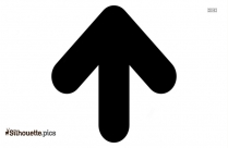 Arrow Pointing Up Symbol Silhouette Image