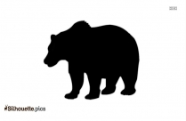 Black Bear Vector Silhouette