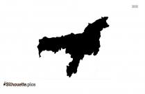 Assam Map Silhouette Clip Art