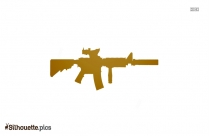 Black Ray Gun Silhouette Image