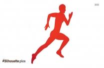 Man Running Clip Art Silhouette