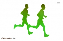 Athletic People Silhouette For Download